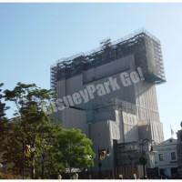 建設中のタワー・オブ・テラー