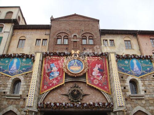 クリスマス・ウィッシュ2012のミラコスタ通り入り口