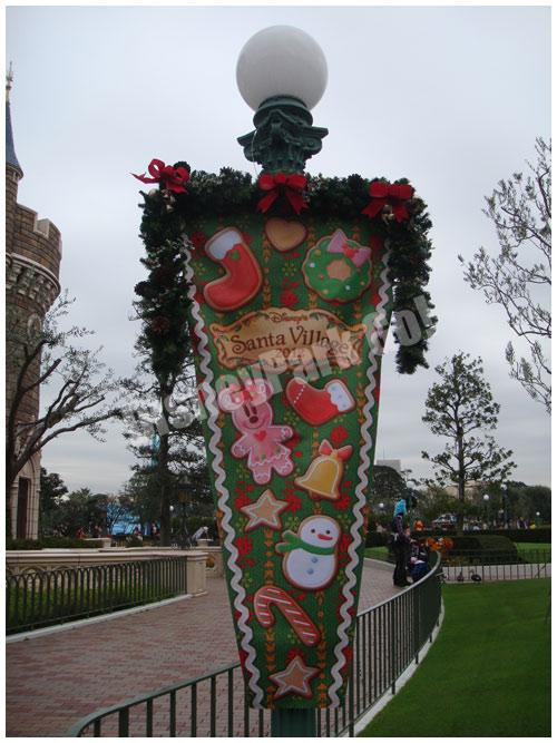 クリスマス・ファンタジー2012の街灯バナー(緑)