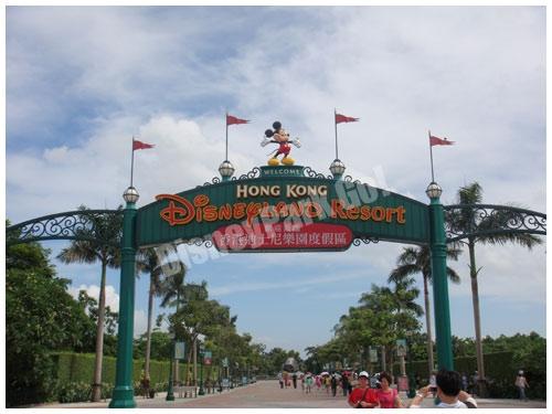 香港ディズニーランドエリア入り口