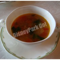 十穀米と菜の花入りベジタブルスープ