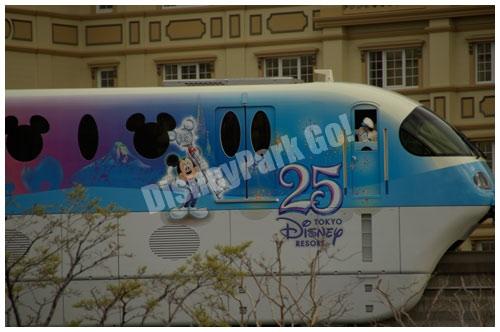 東京ディズニーリゾート25周年のリゾートライン