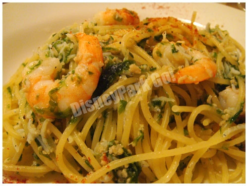 海老とアオサ海苔のスパゲッティ