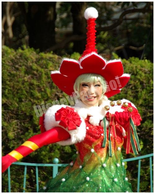 ディズニー・サンタヴィレッジ・パレードの ダンサー