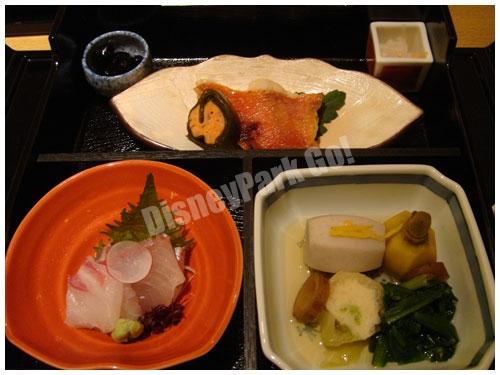 金目鯛の焼き物、刺身、煮物
