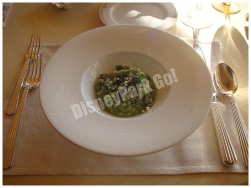 あさりと小松菜のジェノヴァ風リゾット