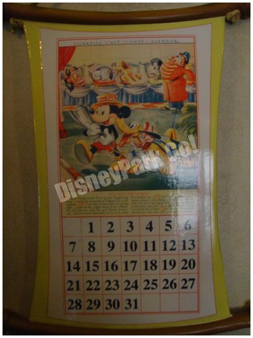 ミッキーの家のカレンダー