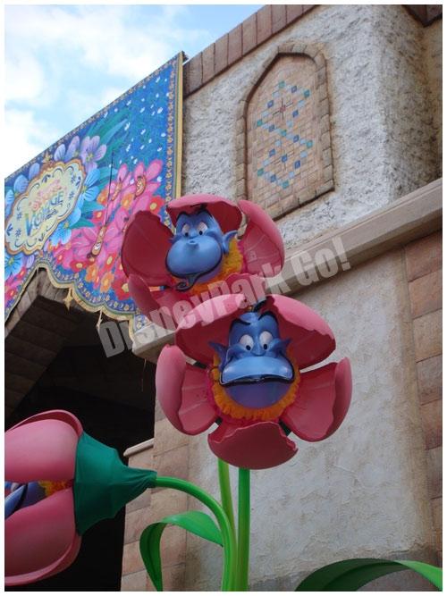 ミッキーとダッフィーのスプリングヴォヤッジ・ジーニーの花