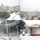 雪景色の東京ディズニーシー