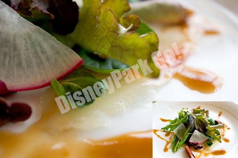 スモークヒラマサのカルパッチョ バルサミコマスタードソースと共に
