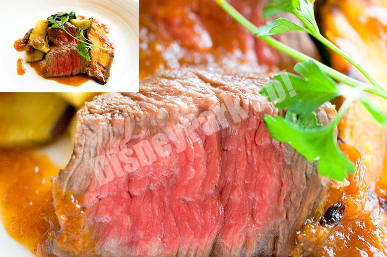 牛ランプ肉のグリル レフォールソース