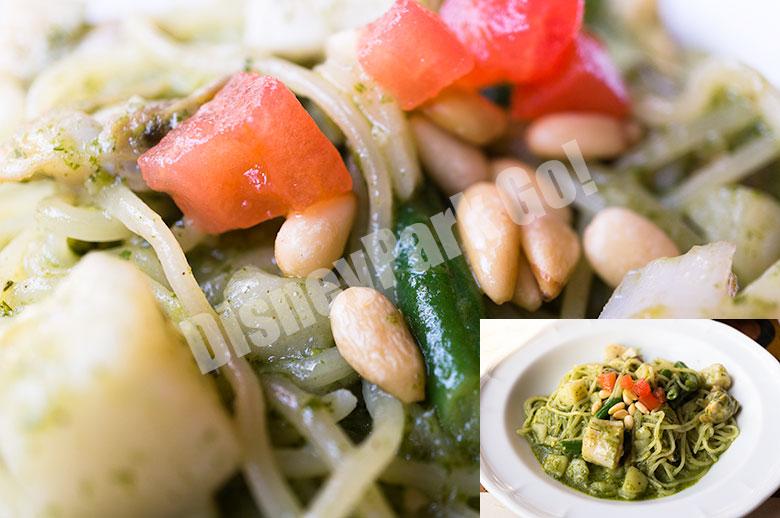 生スパゲッティ、帆立貝とアサリのジェノヴェーゼ