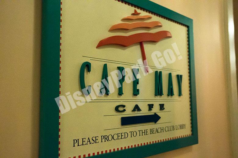 ケープメイ・カフェの看板
