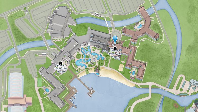 ヨットクラブ、ビーチクラブの地図