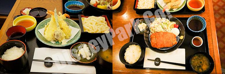 れすとらん北齋の天ぷら膳とロースカツ膳