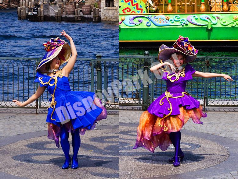 アメリカンウォーターフロントの女性ダンサー