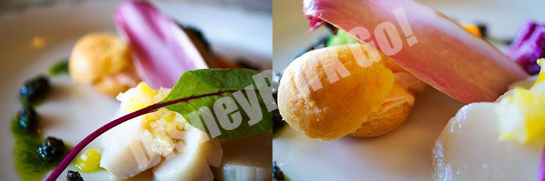帆立貝とサーモントラウトのムース