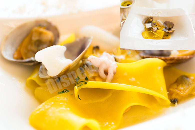 パッパルデッレ 烏賊のインパデッラとアサリのスーゴ  サフラン風味