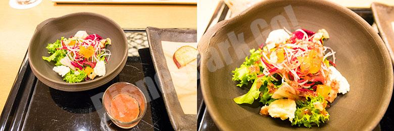 胡桃と柿のサラダ